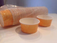 1000 3oz (80ml) Ice Cream Tubs/Cups. New