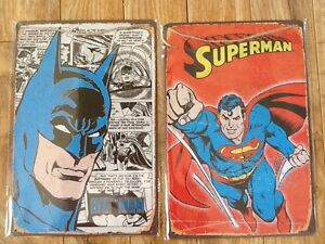 NEW metal signs - BATMAN or SUPERMAN