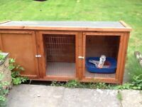 5 month old rabbit hutch, big enough for 2 rabbits, bought from pets at home