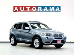 2013 BMW X3 4WD LEATHER PANORAMIC SUNROOF BACKUP CAMERA