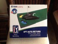 Brand new golf auto return putting mat