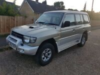 MITSUBISHI SHOGUN MANUAL LWB 2.8 TURBO DIESEL 4X4 4WD UK SPEC FSH 7 SEATER