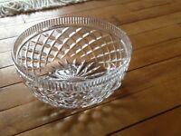 Crystal trifle bowl