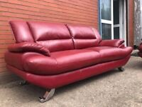 Real leather Harvey's sofa delivery 🚚 sofa suite couch furniture