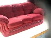 Three seater sofa and single chair
