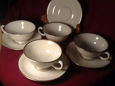 Lenox MANSFIELD Cup & Saucers 4 SETS