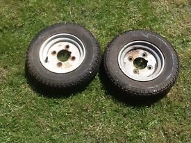 Two trailer tyres £15 the set