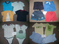 Massive bundle job lot of 43 Summer clothes for boy 9-12mths/ 9-12 mths. In good condition.