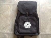 NEW black canvas rucksack