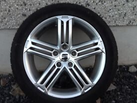 17INCH 5/112 RS6 ALLOY WHEELS WITH GOOD TYRES FIT AUDI VW SEAT SKODA ETC