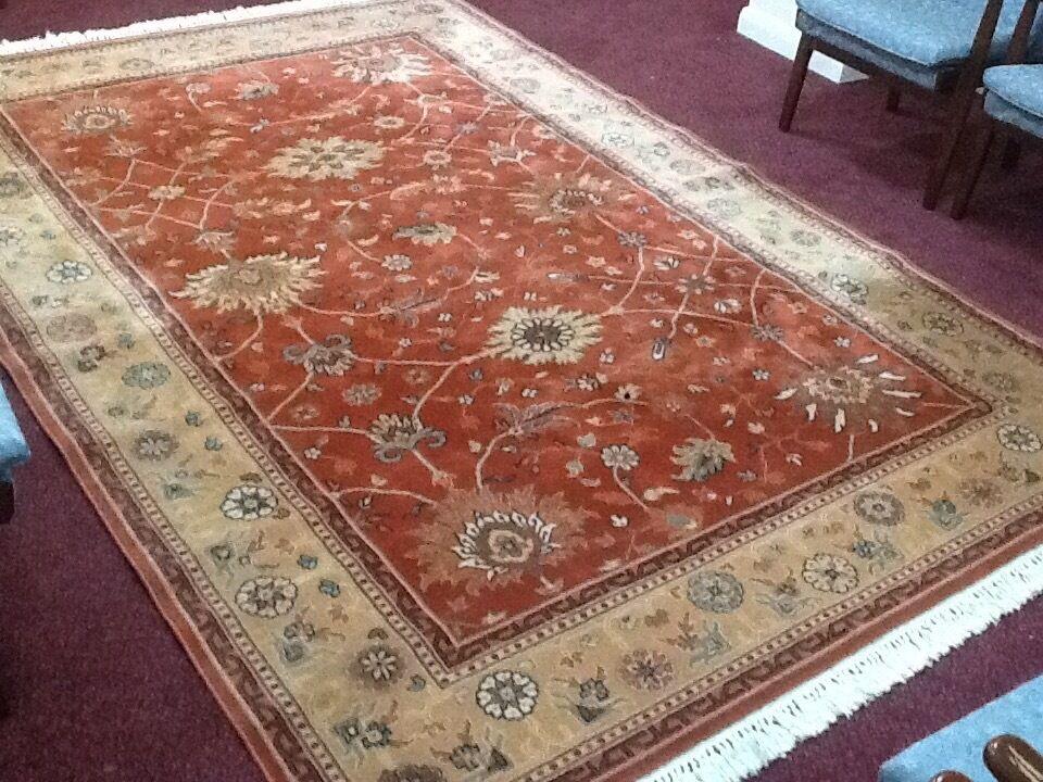 Large John Lewis Royal Keshan 100 Wool Indo Persian