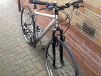 Merida Crossway 21inch Gents Hybrid bicycle and extras