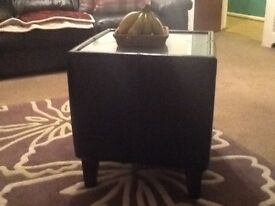 Lovely leather coffee table ivgc