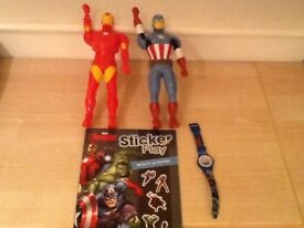 Avenges walky talkys watch and sticker book new