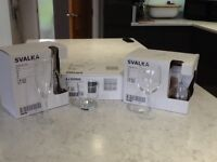 Wine, Champagne Flutes and Tumbler glasses