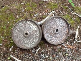 Cast iron wheels for sale.