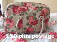 Cath Kidston Aubrey Rose leather bag
