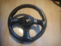 Porsche 924 944 911(964) 996 sport leather steering wheel