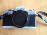 Minolta XG7 camera and lenses for spares or repairs,