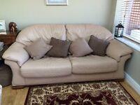 Pendragon 3 piece leather suite