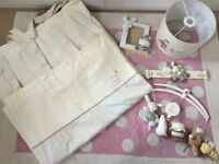 Mamas and Papas Zest &Parsnip Curtains and Accessories £25 Slight fade to curtain (pic