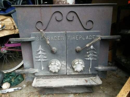 Vintage Schrader Wood Stove/Fire Place