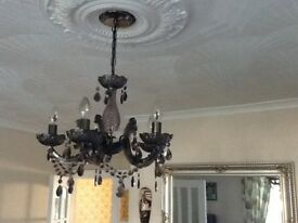 Black Chandalier light fitting