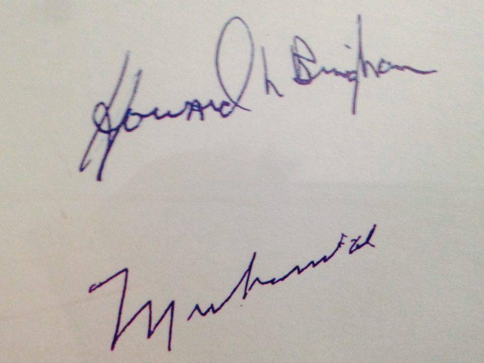 Muhammad Ali, Howard Bingham signed Autograph