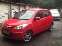 2010 Hyundai i10 1.1 Edition, Manual, 5 Doors, Red, 56000 Miles, HPI Clear,