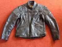 SPORTEX MAXX BLACK LEATHER JACKET - 44 INCH CHEST - ONLY USED ONCE