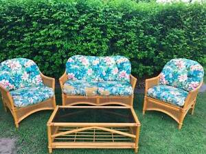 Cane/wicker 4 piece setting Bellmere Caboolture Area Preview