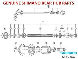 SHIMANO-CASSETTE-FREEHUB-BODY-CONE-AXLE-SEAL-SKEWER-for-8-9-10-SPEED-REAR-HUBS
