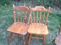 set of 2 pine dinning chairs good condition only £7.00
