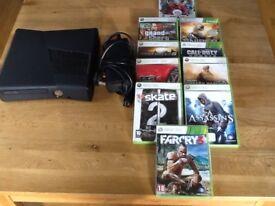 Xbox 360 console & 10 games