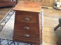 Solid wood chest of drawers £50