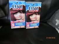 LIVE HAIR COLOUR XXL X 5 DARK REDS COLOURS ALL BRAND NEW IN THE BOXES