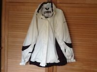 Ladies size 12 cream ski jacket