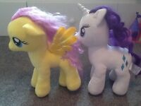 2 my little pony teddy figures both in excellent condition