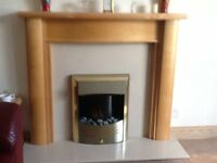 Art Deco Style fireplace with marble insert and electric fire