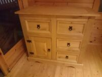 Corona Mexican Pine sideboard BRAND NEW Assembled Ready