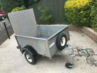 Factory built trailer + ramp/spare wheel