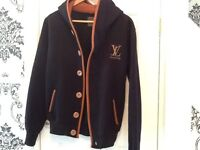 Mens black/tan trim hoody/jacket by Louis Vuitton - small