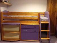 Scallywag 5 piece girls bedroom set