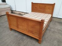 OAK Double Bed Frame Mattress Used Furniture