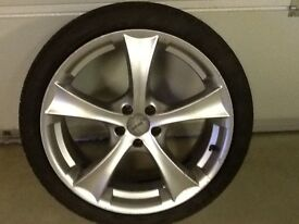 18INCH 5/100 TETSUTS VW SEAT AUDI ALLOY WHEELS WITH TYRES FIT MOST MODELS