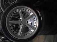 """18"""" A C SCHNITZER STYLE ALLOY WHEELS / TYRES BMW / T5 FITMENT"""