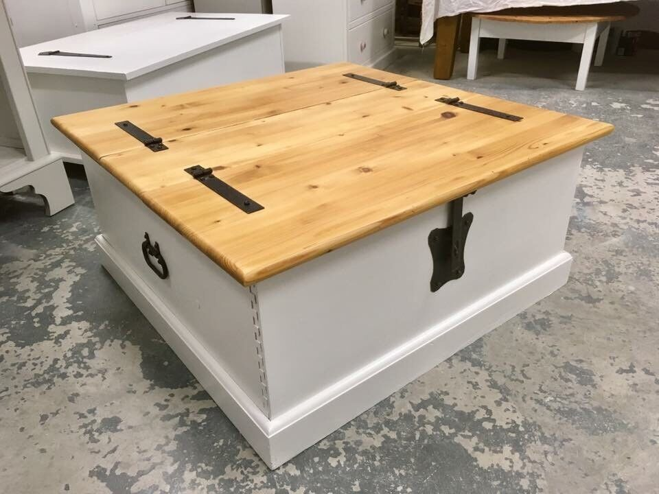 Rustic Solid Pine Coffee Table With Dovetail Joints ***£169***