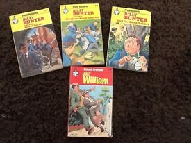 3 Billy Bunter books and 1 Just William book (vintage)