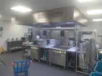 2500 (2.5mtr) Commercial Kitchen Extraction Canopy (supply or install) DIRECT FROM THE FACTORY