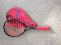 Tennis racquets with covers